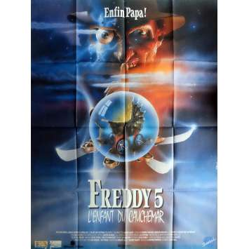 A NIGHTMARE ON ELM STREET 5 DREAM CHILD Movie Poster 47x63 in. French - 1989 - Stephen Hopkins, Robert Englund