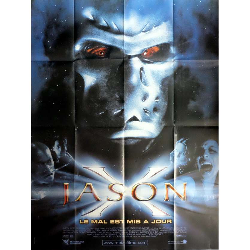 JASON X Movie Poster 47x63 in. French - 2001 - James Isaac, Kane Hdder