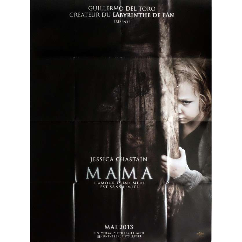 MAMA Movie Poster 47x63 in. French - 2013 - Andrés Muschietti, Jessica Chastain