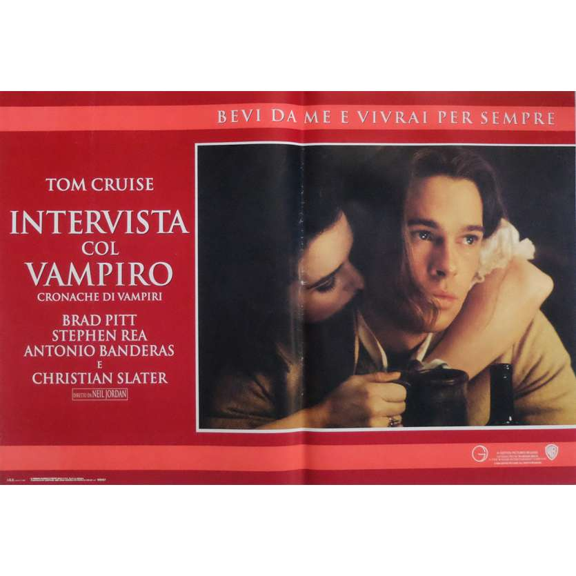 INTERVIEW WITH A VAMPIRE Photobusta Poster x6 18x26 in. Italian - 1994 - Neil Jordan, Tom Cruise