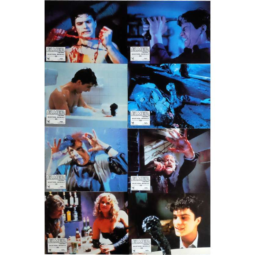 BRAIN DAMAGE Lobby Cards x8 9x12 in. French - 1988 - Frank Henenlotter, Rick Hearst