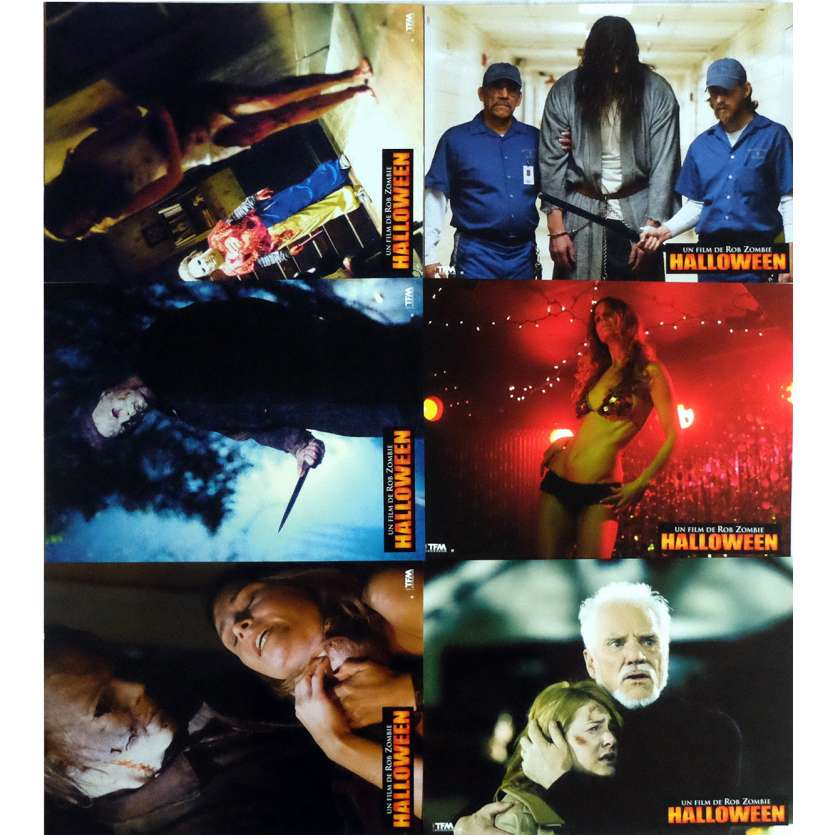 HALLOWEEN Lobby Cards x6 9x12 in. French - 2007 - Rob Zombie, Malcolm McDowell