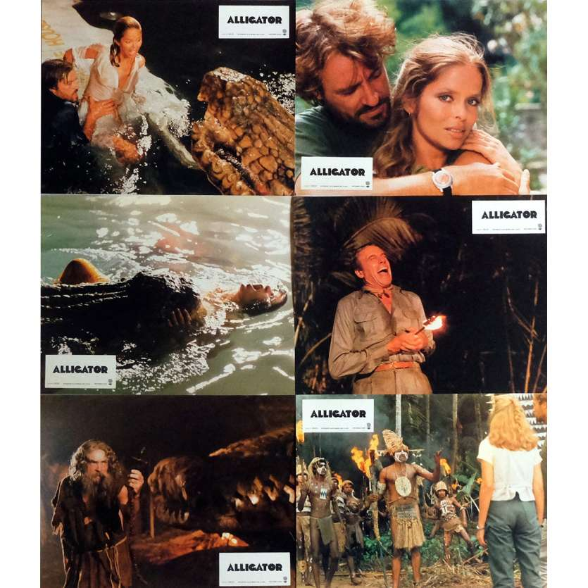 ALLIGATOR Lobby Cards Jeu B, x6 9x12 in. French - 1980 - Lewis Teague, Robert Forster