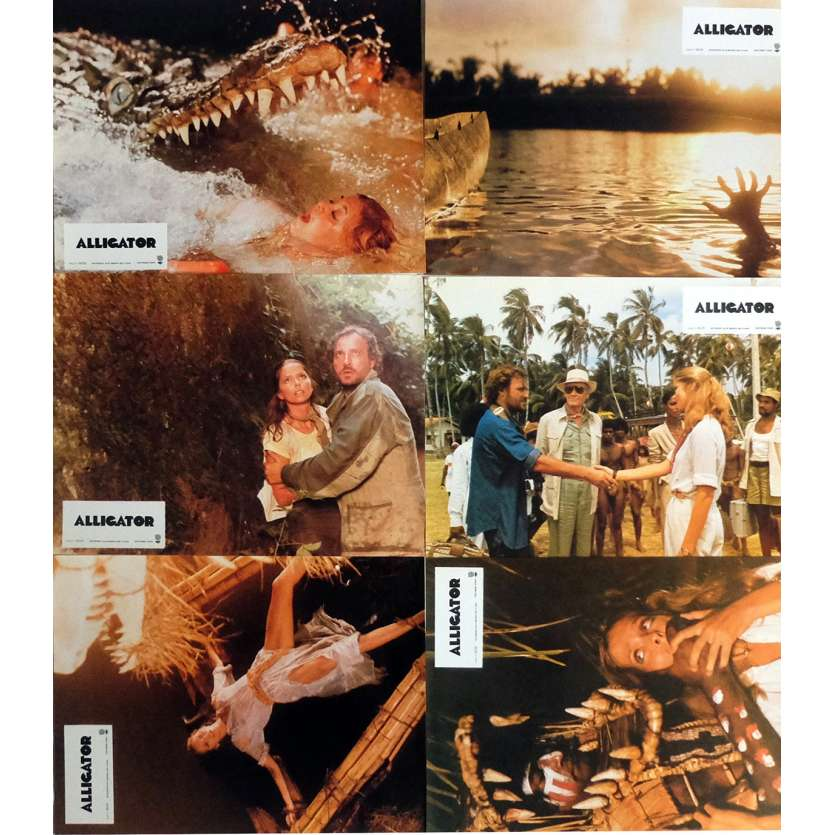 ALLIGATOR Lobby Cards Jeu A, x6 9x12 in. French - 1980 - Lewis Teague, Robert Forster