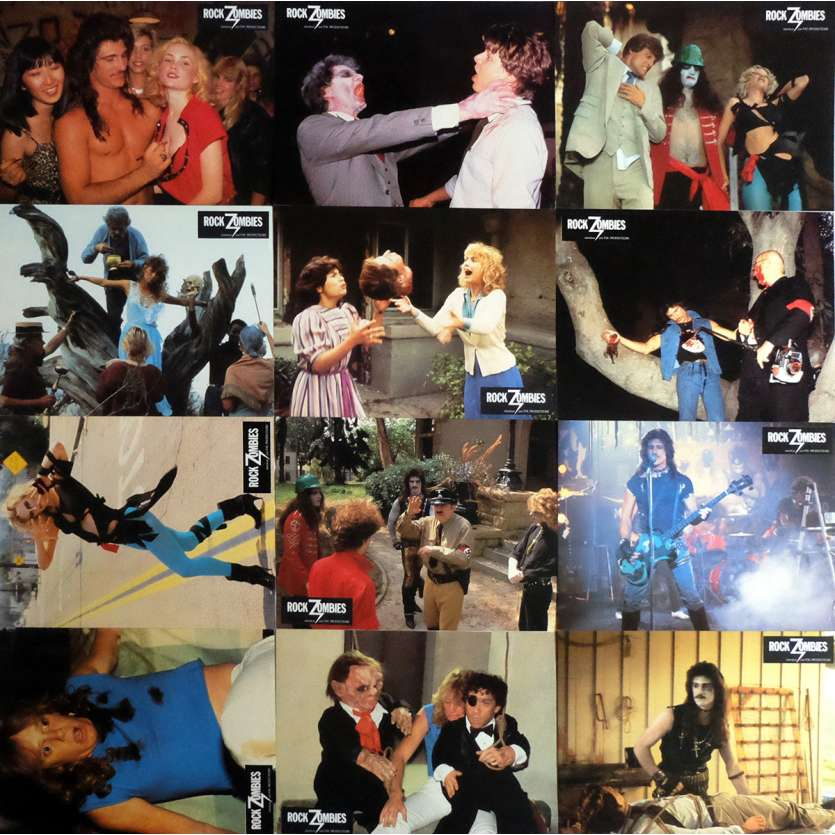 ROCK ZOMBIES Lobby Cards x12 9x12 in. French - 1985 - Krishna Shah, E. J. Curse