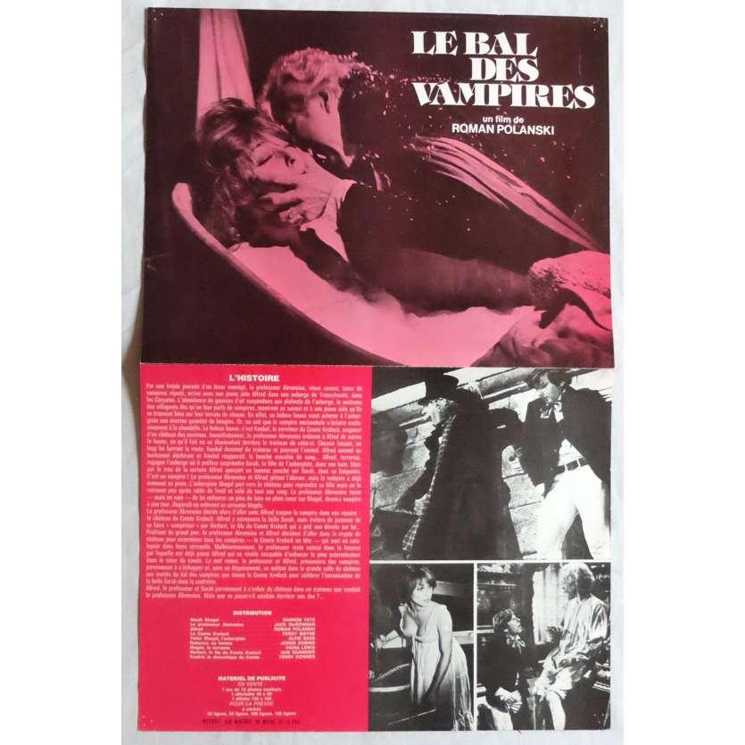 LE BAL DES VAMPIRES Synopsis 21x30 cm - 1967 - Sharon Tate, Roman Polanski