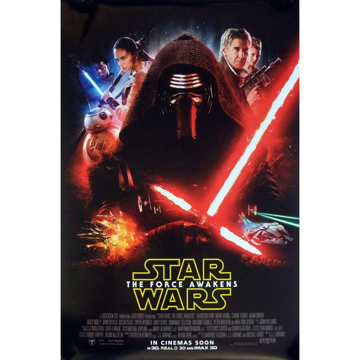 star wars the force awakens vii 7 movie poster ds intl mod b