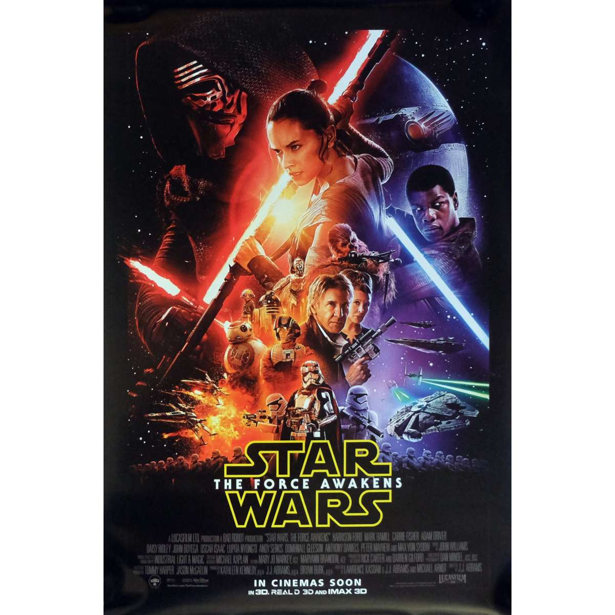 STAR WARS THE FORCE AWAKENS VII 7 ORIGINAL Int\'l DS Movie Poster - 27x40 in.