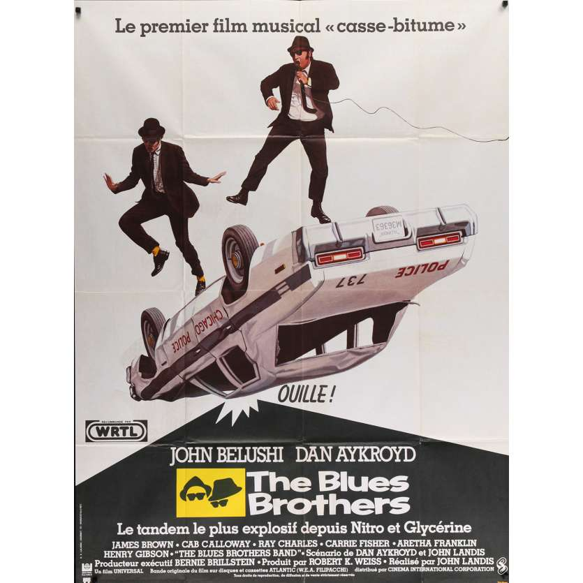 THE BLUES BROTHERS French Movie Poster 47x63 - 1980 - John Landis, John Belushi