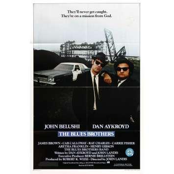 BLUES BROTHERS Original Movie Poster '80 John Belushi, Dan Aykroyd