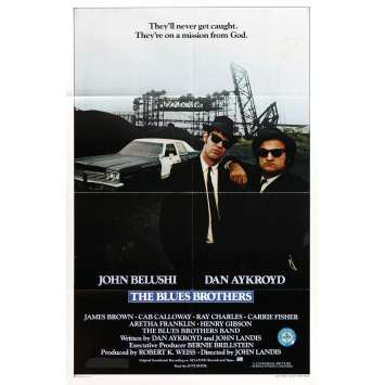 BLUES BROTHERS Original Movie Poster '80 John Belushi, Dan Aykroyd