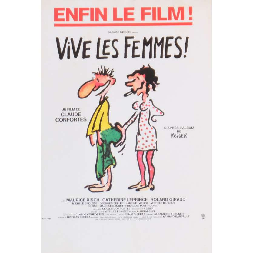 VIVE LES FEMMES Herald 9x12 in. French - 1984 - Claude Confortes, Maurice Risch