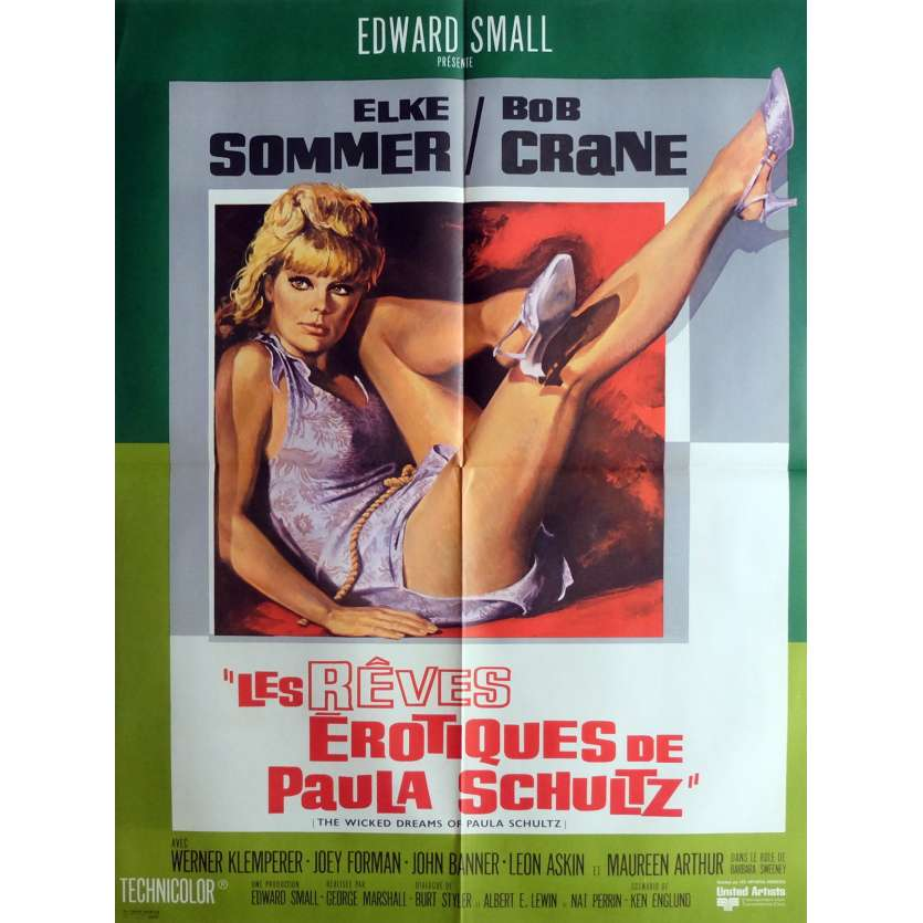 THE WICKED DREAMS OF PAULA SCHULTZ Movie Poster 23x32 in. French - 1968 - George Marshall, Elke Sommer