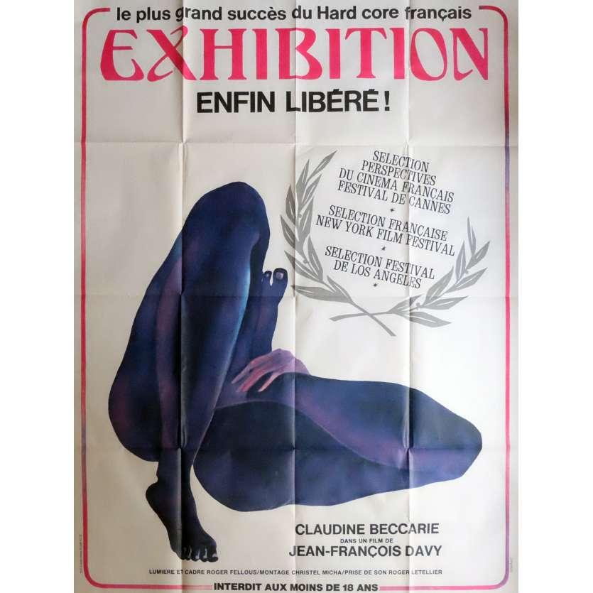 EXHIBITION Affiche de film 120x160 cm - 1979 - Claudine Beccarie, Jean-François Davy