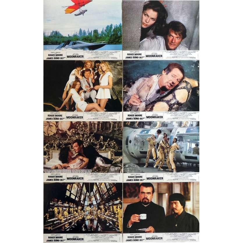 MOONRAKER Photos de film x8 21x30 cm - 1979 - Roger Moore, James Bond