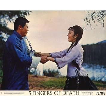 FIVE FINGERS OF DEATH Lobby Card 8x10 in. USA - 1972 - Chang Ho Cheng, Lieh Lo