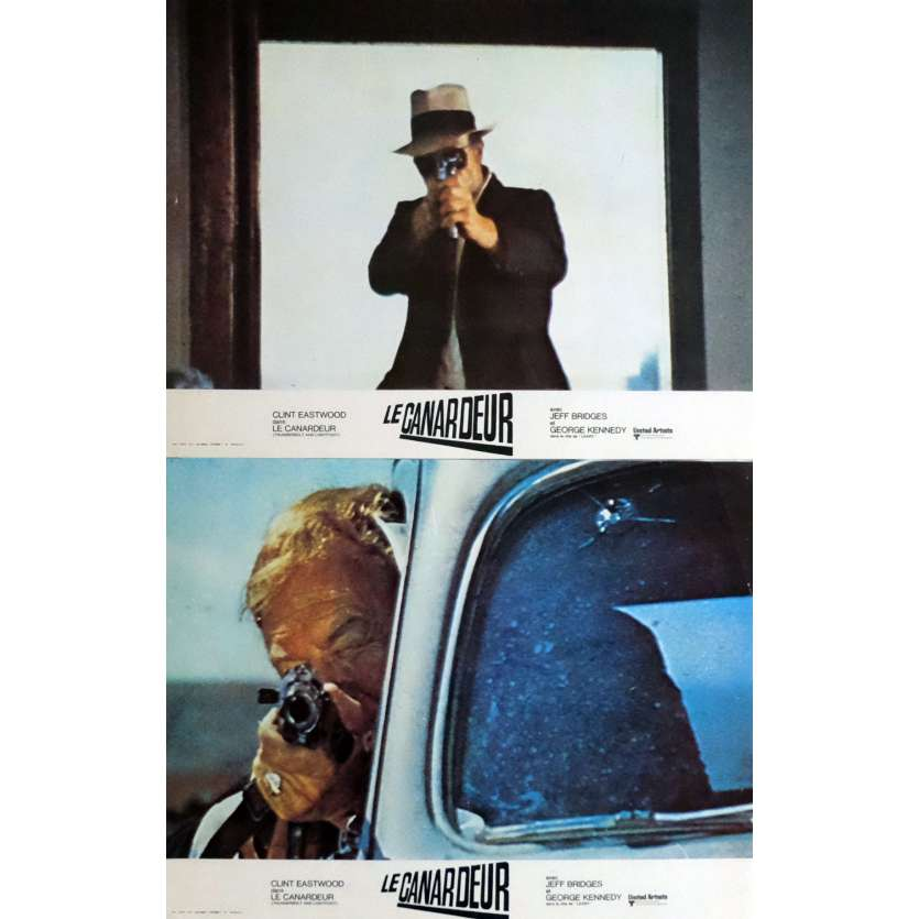 THUNDERBOLT AND LIGHTFOOT Lobby Cards x2 9x12 in. French - 1974 - Michael Cimino, Clint Eastwood