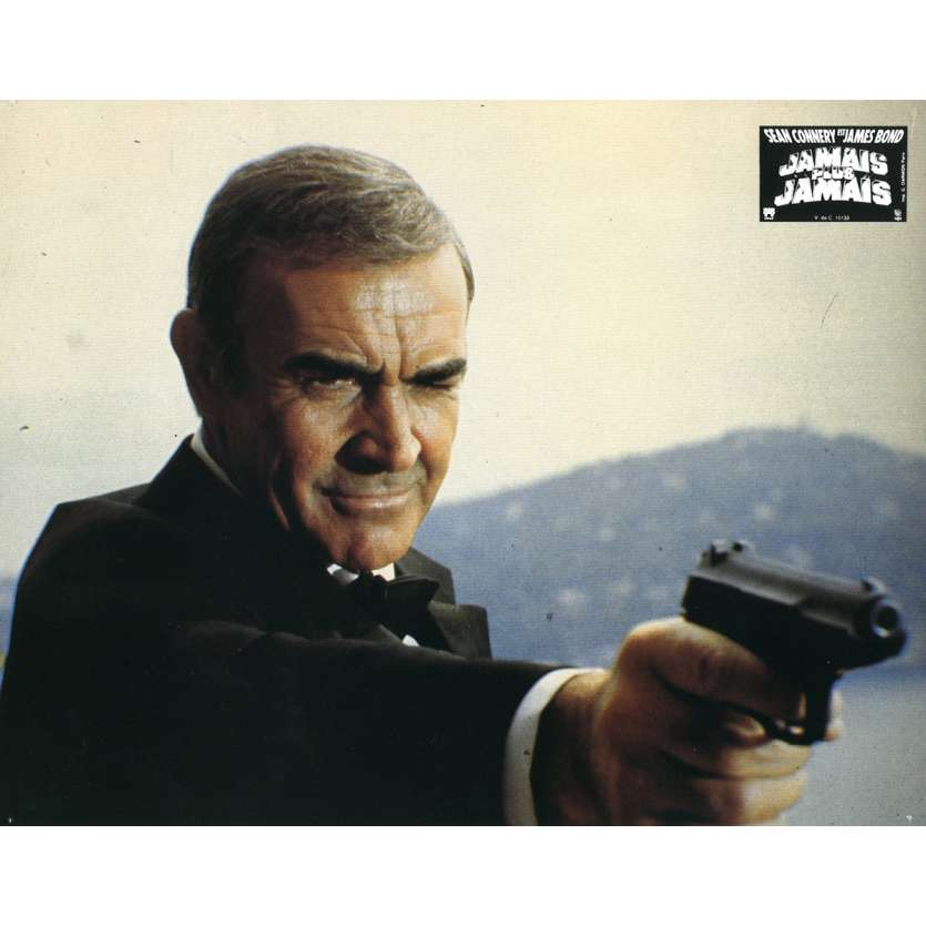 NEVER SAY NEVER AGAIN Lobby Card 9x12 in. USA - 1983 - Irvin Keshner, Sean Connery