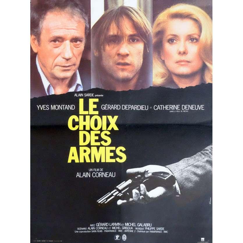 LE CHOIX DES ARMES Affiche de film 40x60 - 1981 - Yves Montand, Alain Corneau