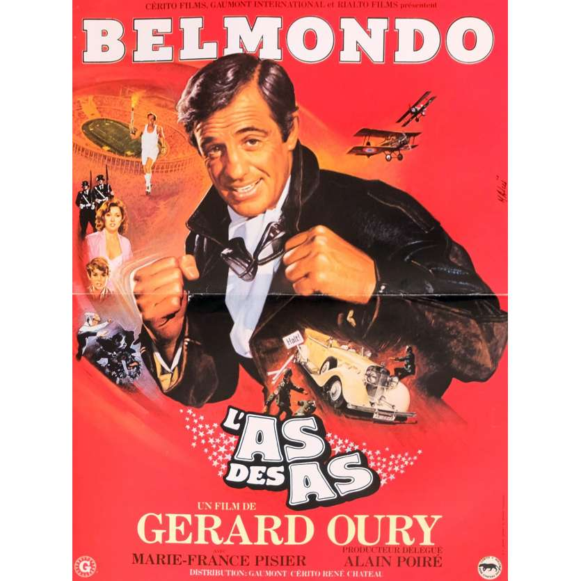 L'AS DES AS French Movie Poster 15x21 - 1982 - Gerard Oury, Jean-Paul Belmondo