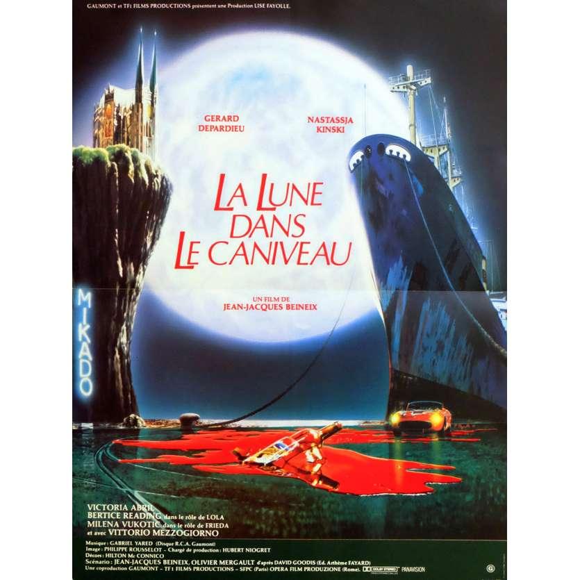 LA LUNE DANS LE CANIVEAU Affiche de film 40x60 - 1983 - Gérard Depardieu, Jean-Jacques Beineix