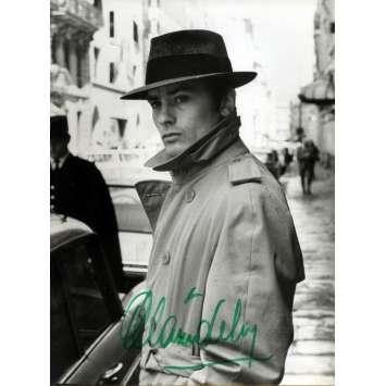 LE SAMOURAI Signed Photo 9x12 in. French - 1967 - Jean-Pierre Melville, Alain Delon