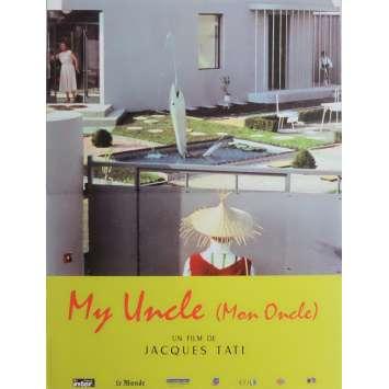 MON ONCLE Affiche de film 40x60 cm - R2000 - Jean-Pierre Zola, Jacques Tati