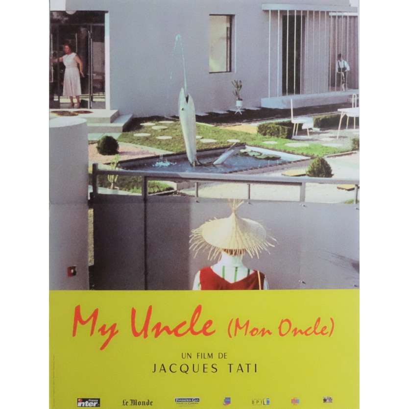 MON ONCLE Movie Poster 15x21 in. French - R2000 - Jacques Tati, Jean-Pierre Zola