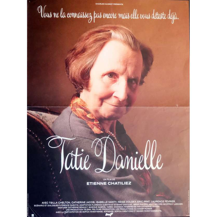 AUNTIE DANIELLE Movie Poster 15x21 in. French - 1990 - Etienne Chatillez, Tsilla Chelton