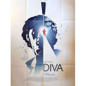 DIVA Movie Poster 47x63 in. French - 1981 - Jean-Jacques Beineix, Jean-Hugues Anglade