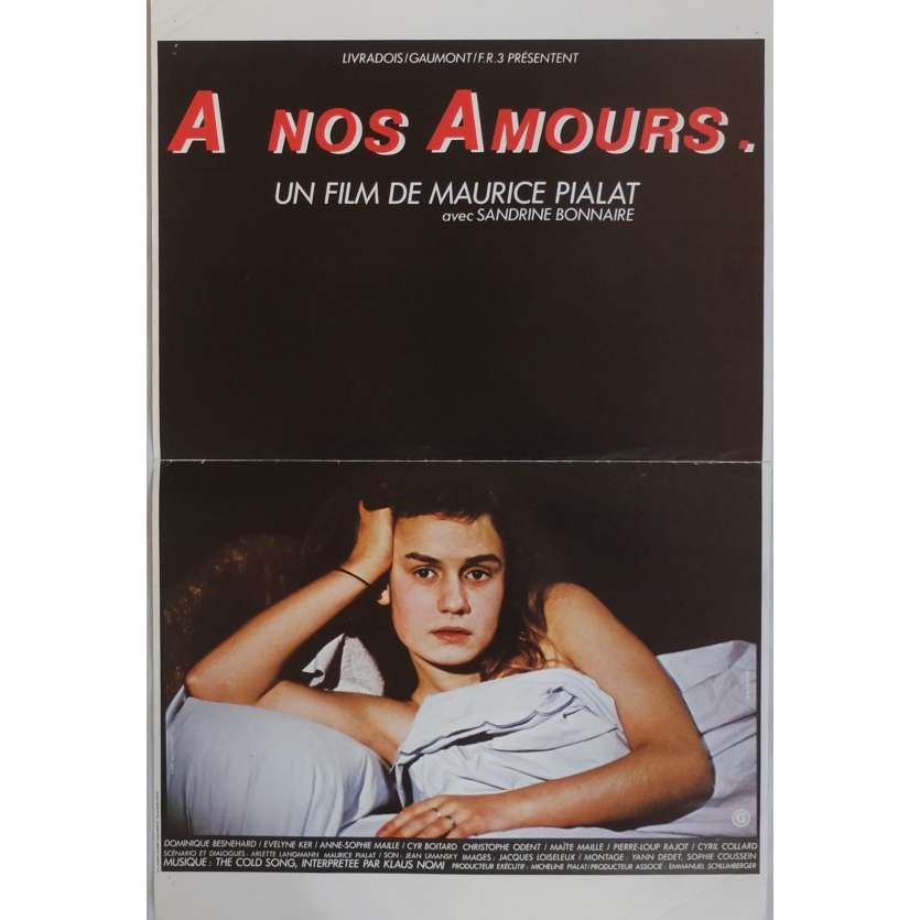 A NOS AMOURS Movie Poster 15x21 in. French - 1983 - Maurice Pialat, Sandrine Bonnaire