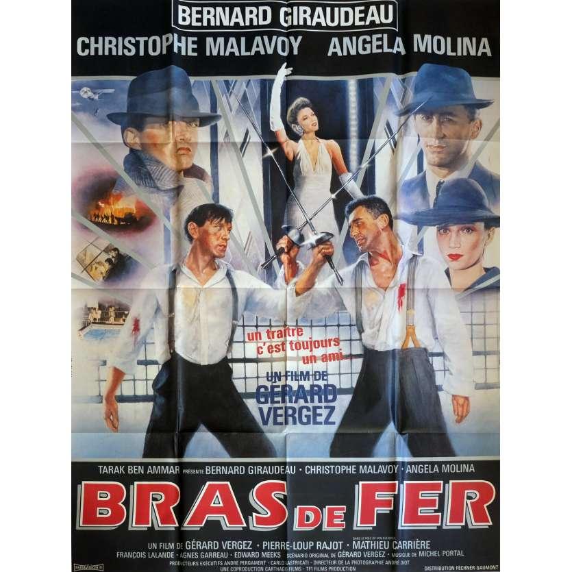 BRAS DE FER Affiche de film Def. 120x160 cm - 1985 - Bernard Giraudeau, Gérard Vergez