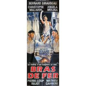 BRAS DE FER Affiche de film 120x320cm - 1985 - Bernard Giraudeau, Gérard Vergez