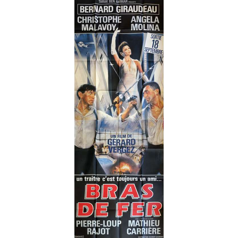 BRAS DE FER Movie Poster 47x126 in. French - 1985 - Gérard Vergez, Bernard Giraudeau