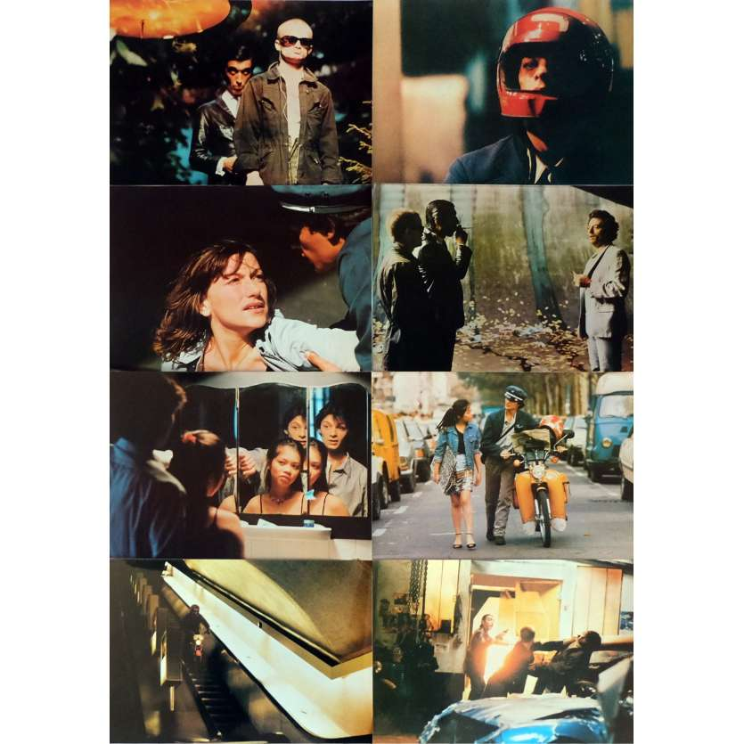 DIVA Lobby Cards x8 9x12 in. French - 1981 - Jean-Jacques Beineix, Jean-Hugues Anglade