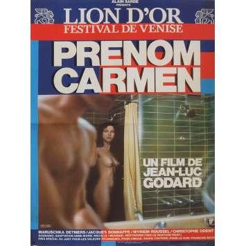 PRENOM CARMEN Affiche de film 40x60 cm - 1983 - Maruschka Detmers, Jean-Luc Godard