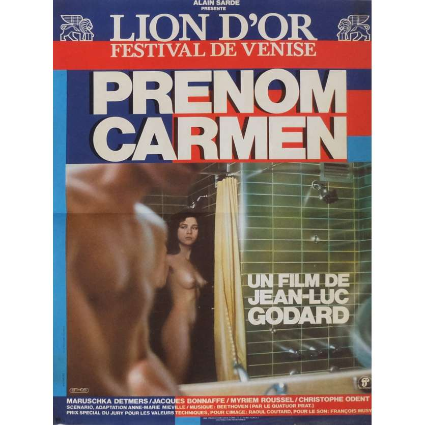 FIRST NAME CARMEN Movie Poster 15x21 in. French - 1983 - Jean-Luc Godard, Maruschka Detmers