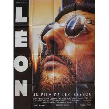 LEON Affiche de film 120x160 cm - 1994 - Natalie Portman, Luc Besson