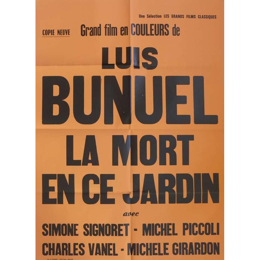 LA MORT EN CE JARDIN Affiche de film 80x120 cm - R1970 - Simone Signoret, Luis Bunuel