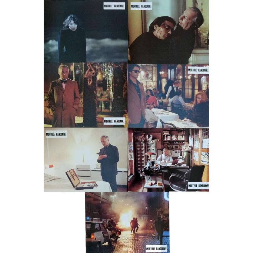 DEADLY CIRCUIT Lobby Cards x7 9x12 in. French - 1983 - Claude Miller, Michel Serrault