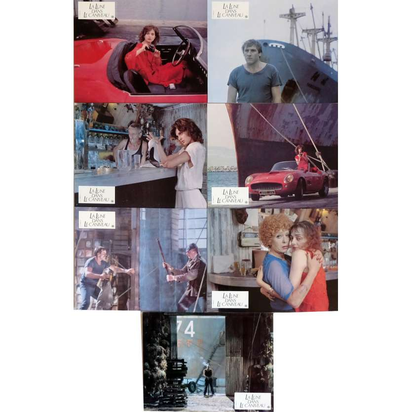 THE MOON IN THE GUTTER Lobby Cards x7 9x12 in. French - 1983 - Jean-Jacques Beineix, Gérard Depardieu