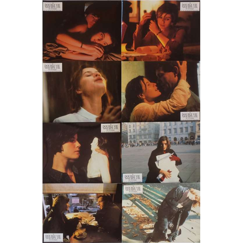 THE DOUBLE LIFE OF VERONIQUE Lobby Cards x8 9x12 in. French - 1991 - Krzysztof Kieslowski, Irène Jacob