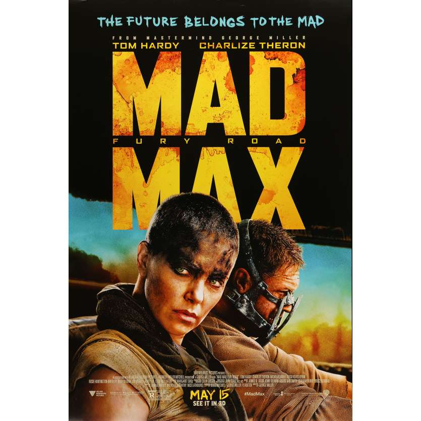 MAD MAX - FURY ROAD Movie Poster 29x40 in. USA - 2015 - George Miller, Tom Hardy