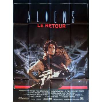 ALIENS French Movie Poster 47x63 - 1986 - James Cameron, Sigourney Weaver
