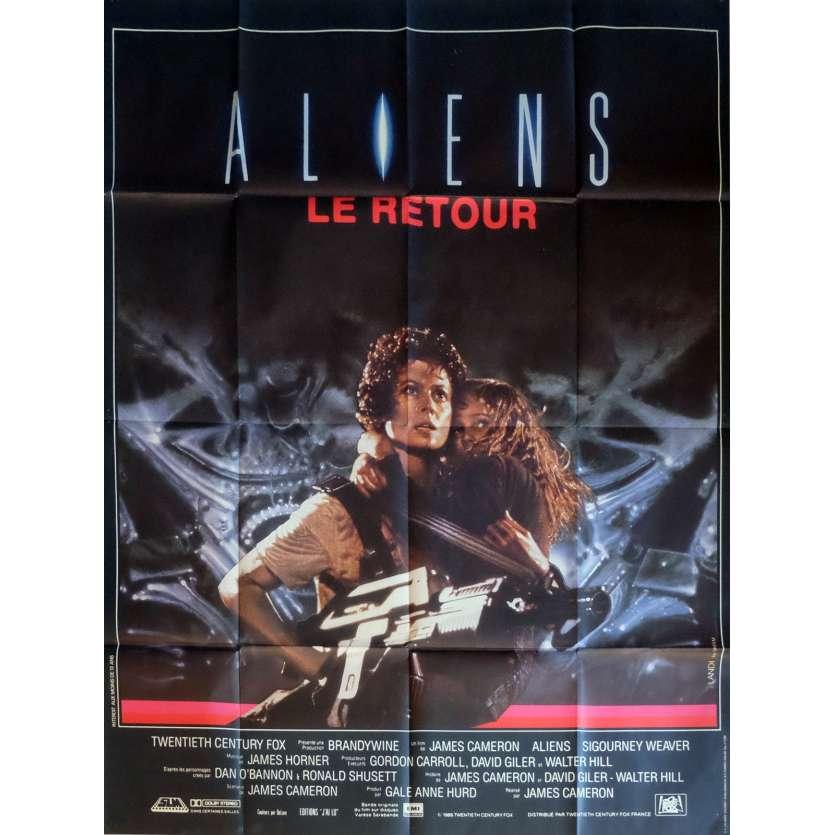 ALIENS Affiche de film 120x160 - 1986 - Sigourney Weaver, James Cameron