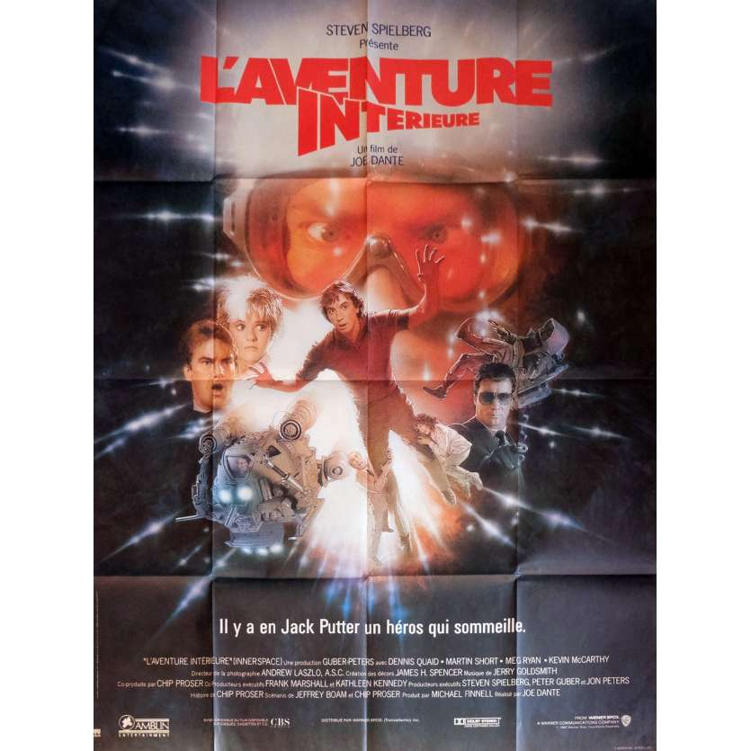 L'AVENTURE INTERIEURE Affiche du film 120x160 - 1987 - Joe Dante, Dennis Quaid Movie Poster