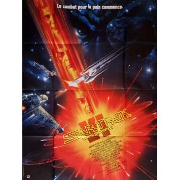 STAR TREK VI French Movie Poster 47x63 '91 William Shatner, Leonard Nimoy