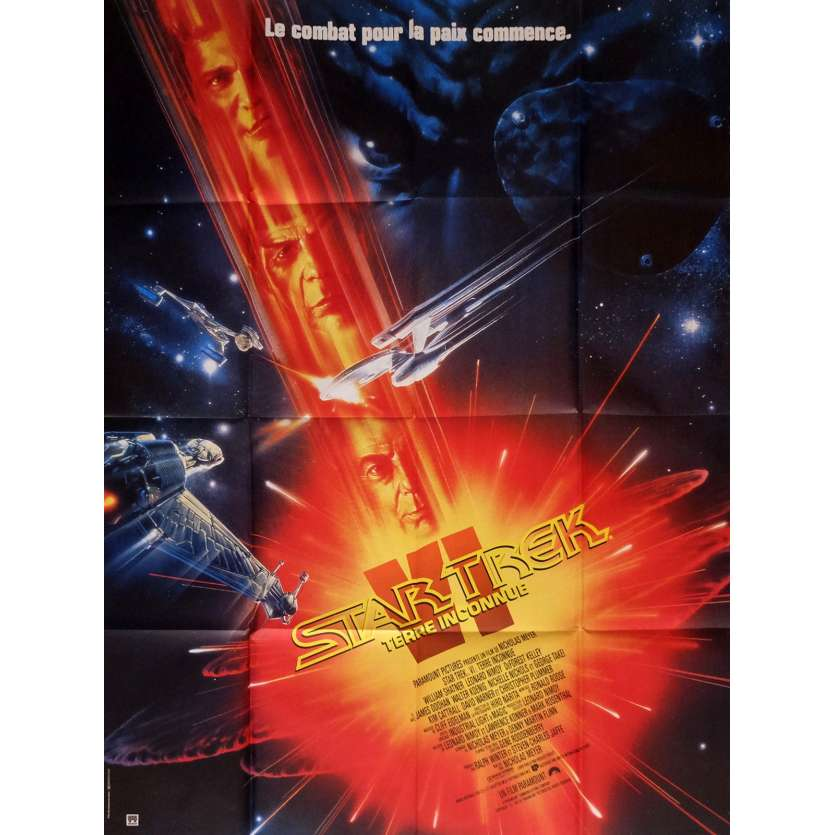 STAR TREK 6 Affiche de film 120x160 - 1991 - William Shatner, Leonard Nimoy