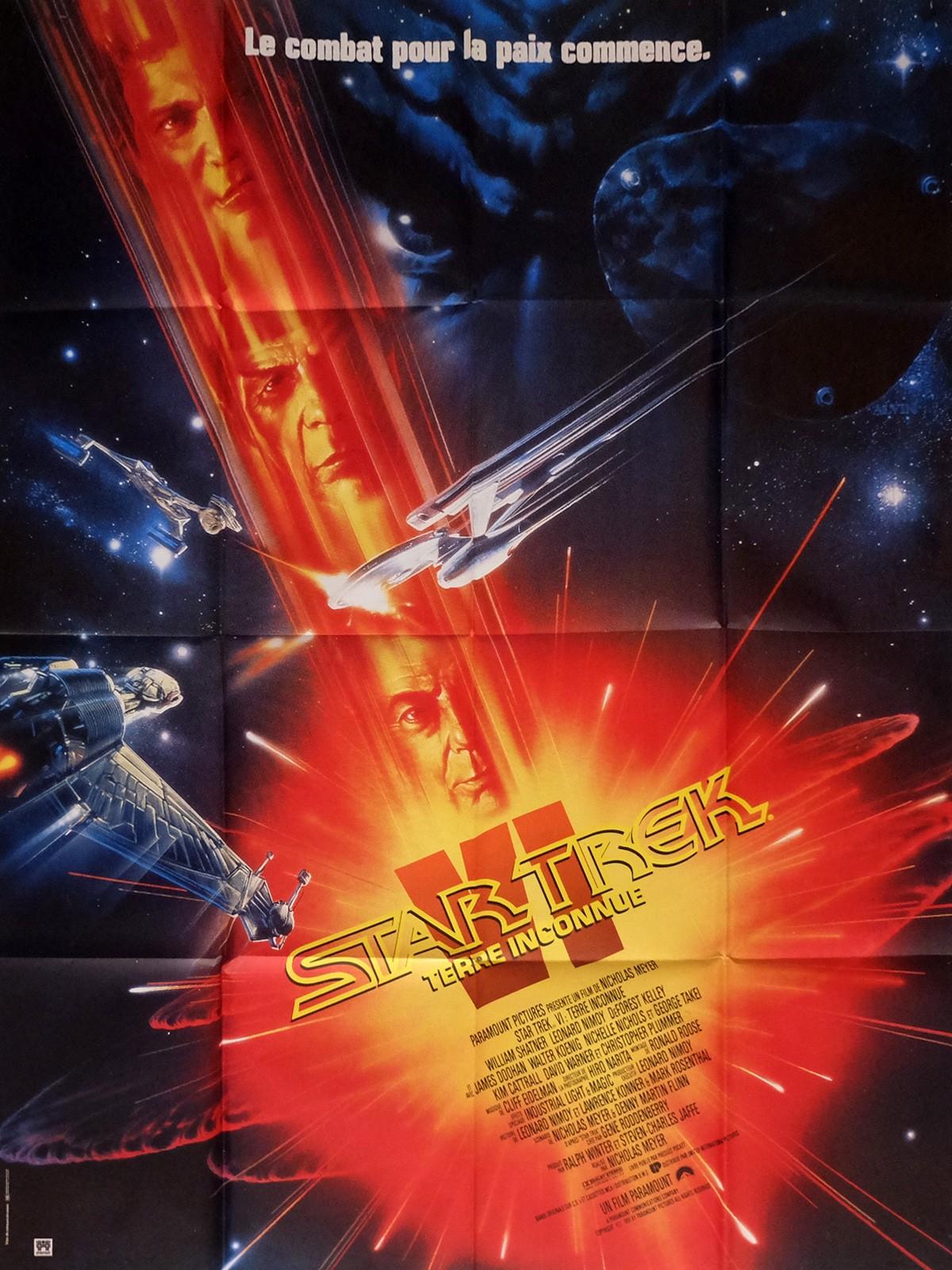 Star Trek Vi French Movie Poster 47x63 91 William Shatner Leonard Nimoy