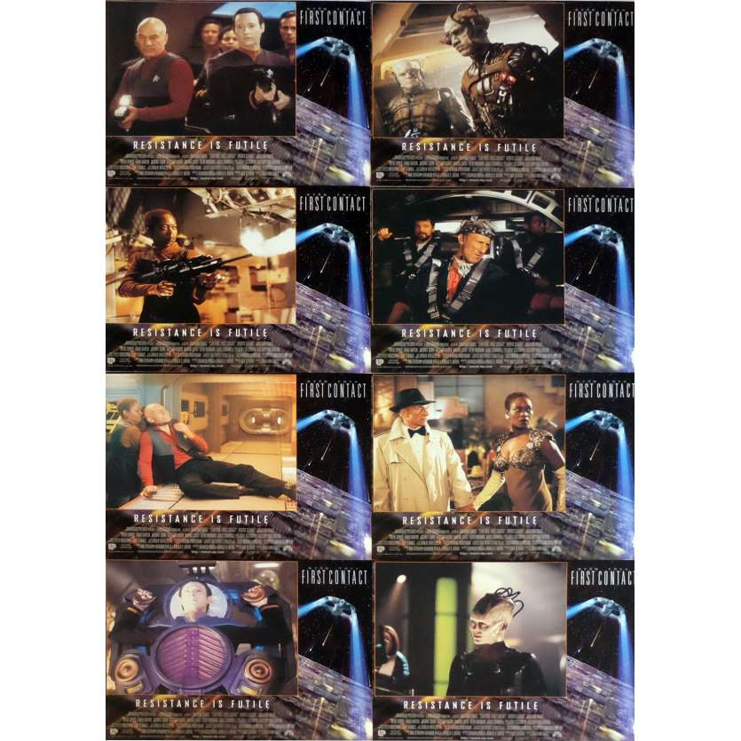 STAR TREK: FIRST CONTACT Lobby Cards x8 11x14 in. USA - 1996 - Jonathan Frakes, Patrick Stewart